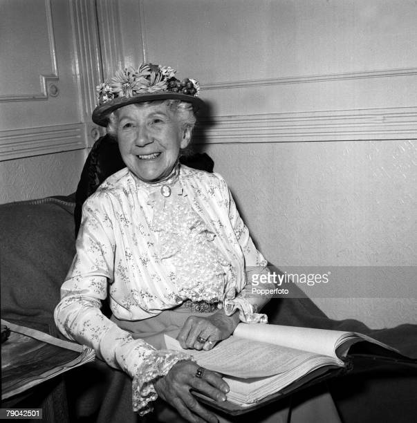 1955 British actress Katie Johnson is pictured at the time of the filming of The Lady Killers