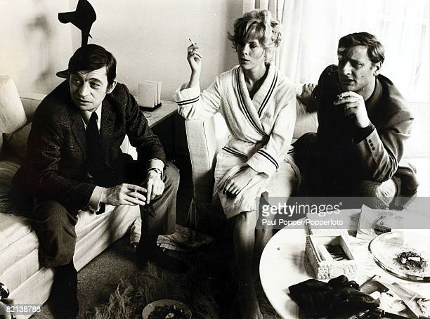 19th April 1967 Swedish film and stage actress Bibi Andersson born 1935 pictured with left JDoniolValcroze and Bruno Cremer She appeared in films...