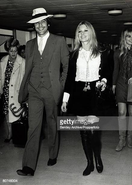 23rd April 1968 French actress Brigitte Bardot arrives in London escorted by her brother in law Patrick Bauchau Brigitte Bardot first appeared on...