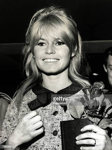 23th October 1963 French film actress Brigitte Bardot pictured at London Airport as she arrives in London for filming Brigitte Bardot first appeared...