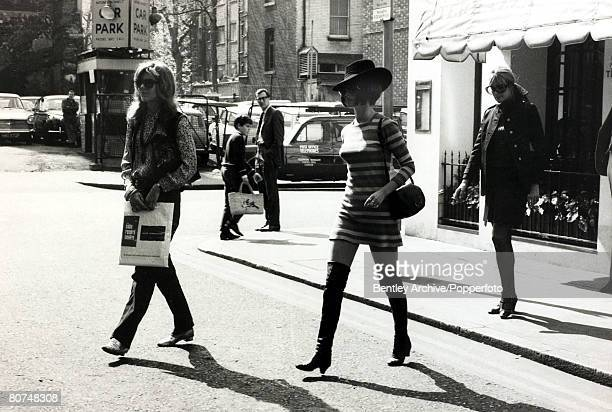 24rd April 1968 French actress Brigitte Bardot disguised in a black wig to avoid the attentions of the media as she goes shopping in London Brigitte...
