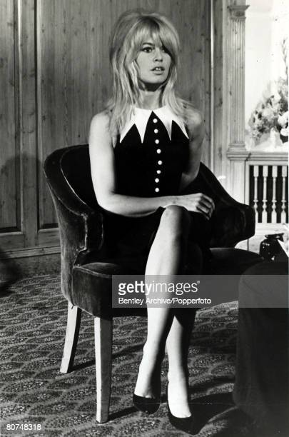 24th October 1963 French film actress Brigitte Bardot pictured meeting the British press in London Brigitte Bardot first appeared on screen in 1952...