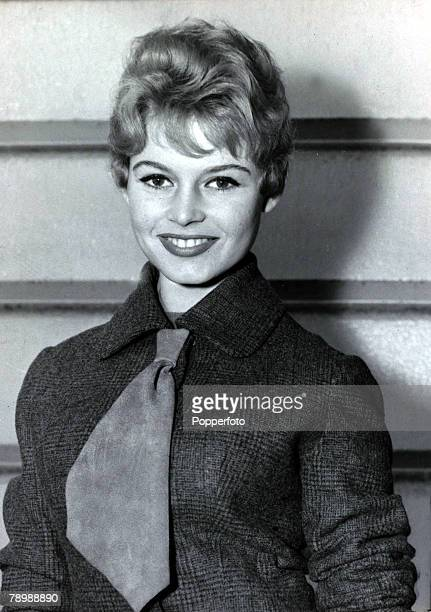 27th October 1956 French film actress Brigitte Bardot pictured in London as she is attending a Royal Command Film Performance Brigitte Bardot first...