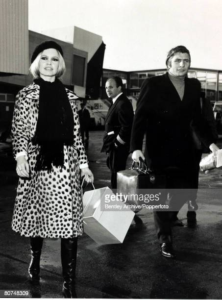 28th November 1967 French actress Brigitte Bardot with her husband Gunther Sachs Brigitte Bardot first appeared on screen in 1952 married Roger Vadim...