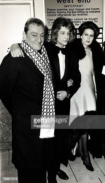 2nd March 1971 Young Swedish film actor 15 year old Bjorn Andresen centre with Luchino Visconti left and Silvano Mangano in London for the premiere...