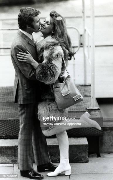 4th April 1970 English actress Anne Aubrey born 1937 with her husband actor Derren Nesbitt