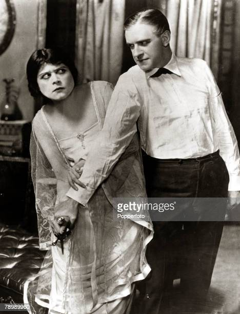 circa 1910's American actress Theda Bara appearing with William EShay in the film The Clemenceau Case