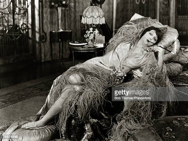 circa 1925 American actress Barbara La Marr sadly remembered for being known as one of the first Hollywood actresses to have caused her death by...