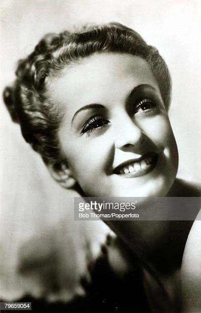 circa 1940 French actress Danielle Darrieux born 1917 who went to Hollywood in the late 1930's after making films in France but was soon to return to...