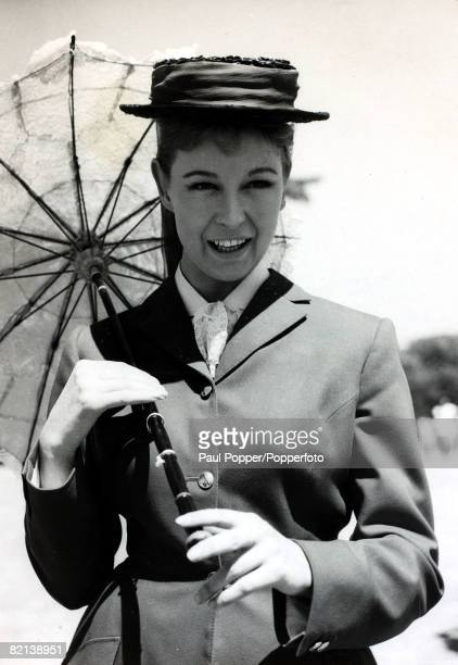 circa 1959 English actress Anne Aubrey born 1937 pictured when she was making the film The Bandit of Zhobe in Spain
