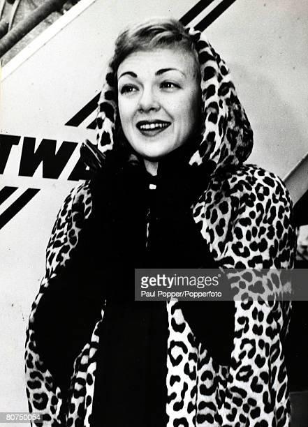 circa 1950's American actress Edie Adams born 1927 arriving in New York