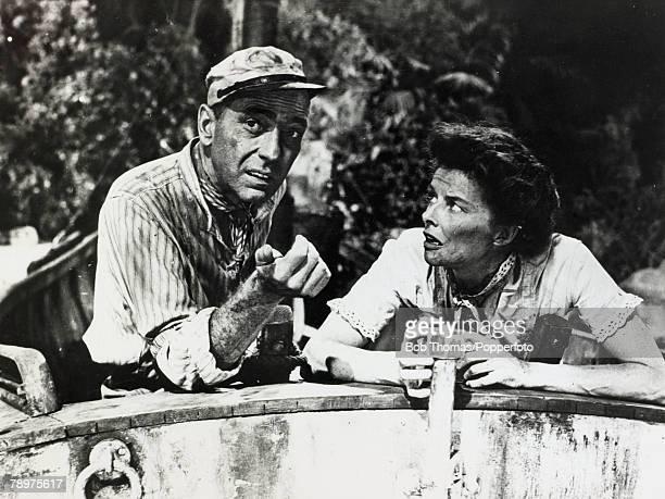 1951 American actress Katharine Hepburn playing alongside Humphrey Bogart in the classic film 'The African Queen' Katharine Hepburn was one of the...