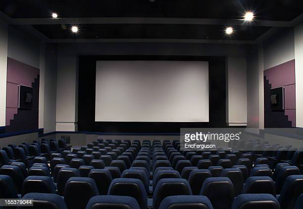 Cinema seats and isleway on black
