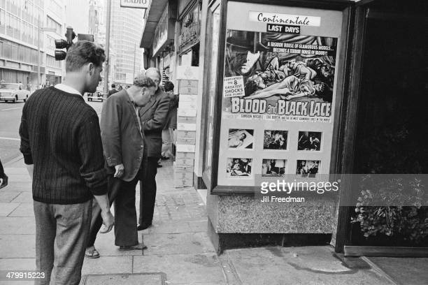 A cinema showing the film 'Blood and Black Lace' in London England 1969
