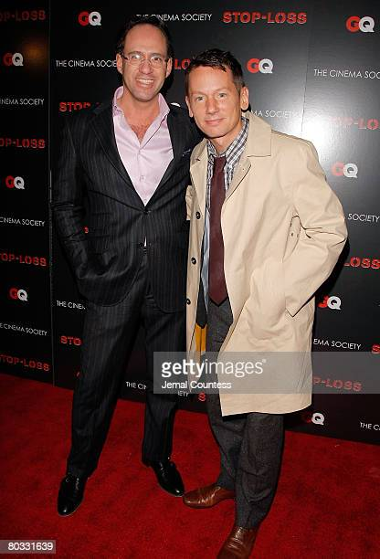 Cinema Society Founder Andrew Saffir and GQ Editor and Cheif Jim Nelson attend the New York Premiere screening of StopLoss hosted by The Cinema...