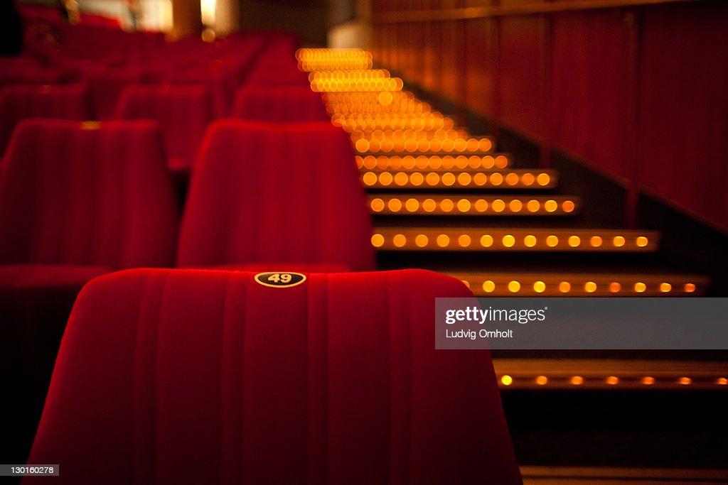 Cinema theater seat : Stock Photo