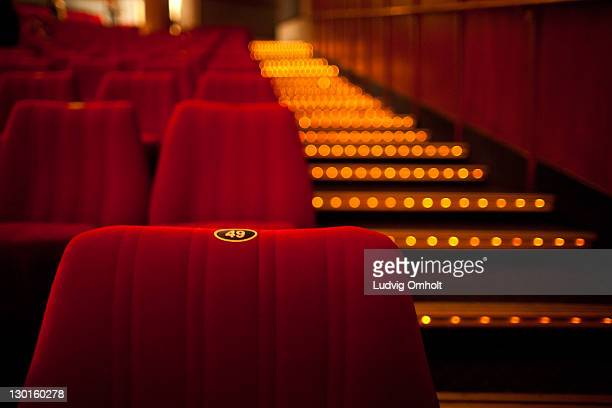 cinema theater seat - seat stock pictures, royalty-free photos & images