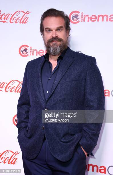 CinemaCon Action Star of the Year Award recipient actor David Harbour arrives for the 2019 Big Screen Achievement Awards at the Omia nightclub at...