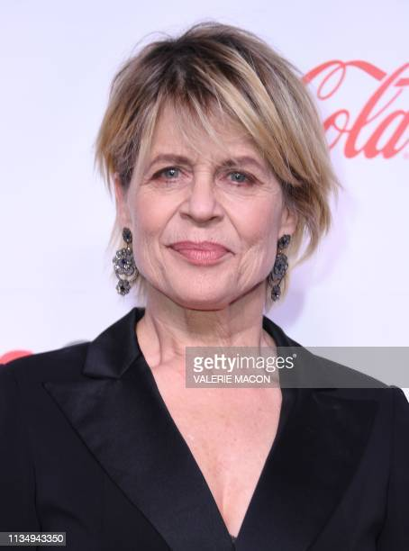 CinemaCon Ensemble Award corecipient for Terminator Dark Fate actress Linda Hamilton arrives for the 2019 Big Screen Achievement Awards at the Omia...