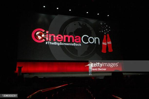 CinemaCon Managing Director Mitch Neuhauser speaks onstage during CinemaCon 2021 Opening Night Event: The Big Screen is Back and Sony Pictures...
