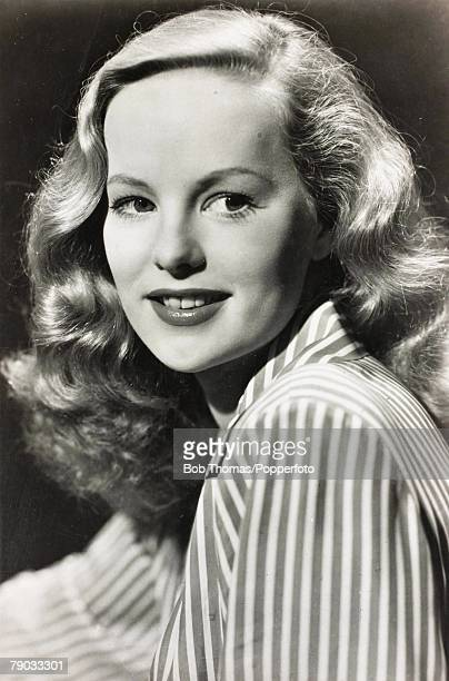 CinemaFilm Actresses Circa 1940's A picture of the British screen star Peggy Cummins born 1925
