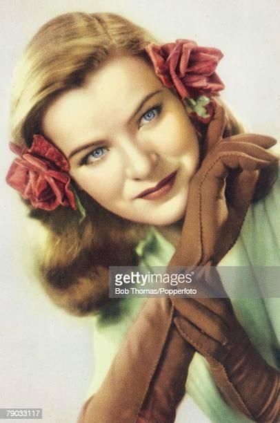 CinemaFilm Actresses Circa 1940's The American screen star Ella Raines