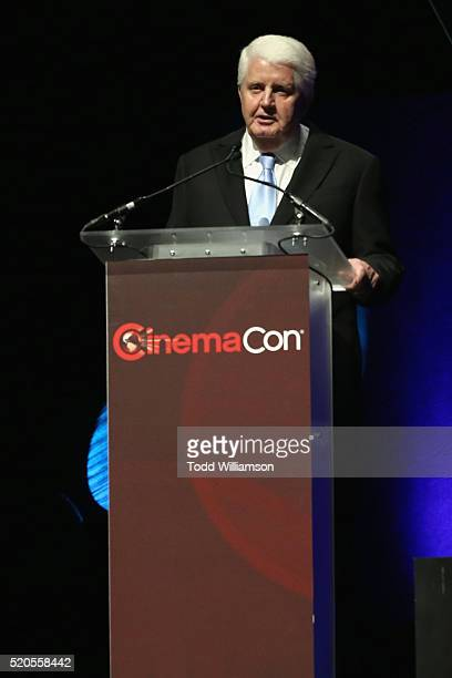 Cinemark CEO Tim Warner attends the CinemaCon 2016 Gala Opening Night Event: Paramount Pictures Highlights its 2016 Summer and Beyond Films at The...
