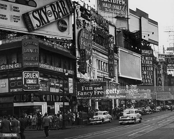 Cinemas on Broadway, New York, 1947.