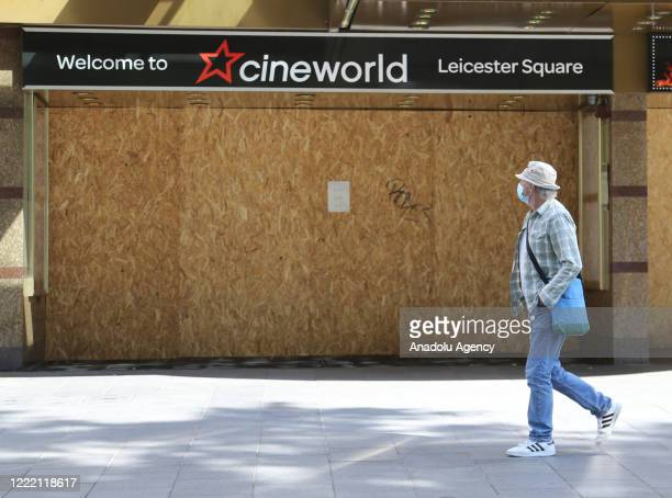 Cinemas remain closed due to COVID-19 lockdown measures in London, England on June 23, 2020. British government prepares to reduce social distancing...