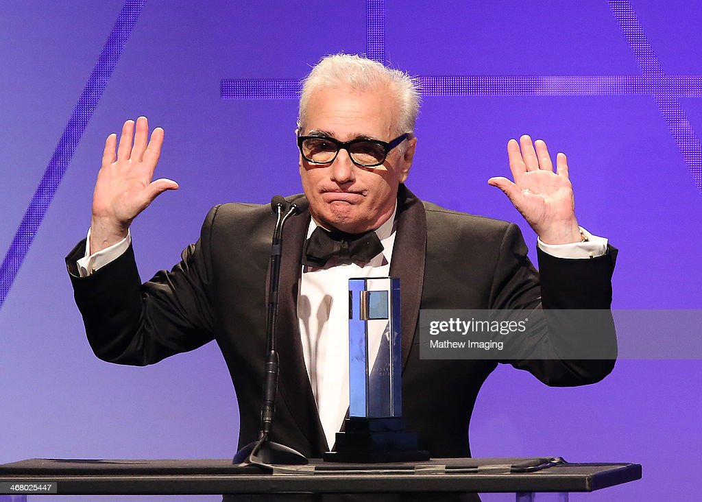 Cinematic Imagery Award Honoree Martin Scorsese at the 18th Annual ADG Awards held at The Beverly Hilton Hotel on February 8, 2014 in Beverly Hills, California.