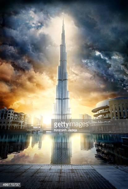 Cinematic View Of Burj Khalifa