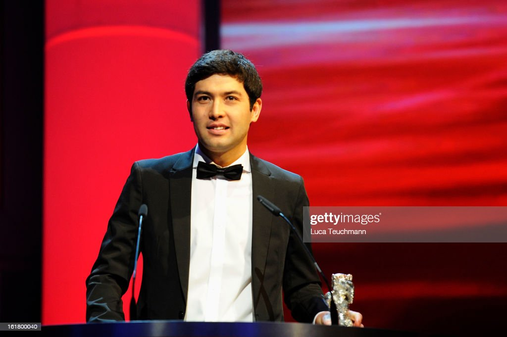 Cinematographer Aziz Zhambakiyev receives the award for best camera at the Closing Ceremony during the 63rd Berlinale International Film Festival at Berlinale Palast on February 14, 2013 in Berlin, Germany.