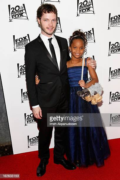 Cinematographer Ben Richardson and actress Quvenzhane Wallis attend the 20th Century Fox And Fox Searchlight Pictures' Academy Award Nominees...