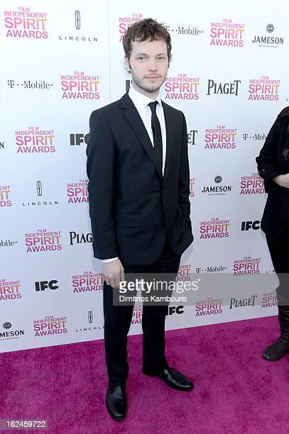 Cinematographer Ben Richardson arrives with Jameson prior to the 2013 Film Independent Spirit Awards at Santa Monica Beach on February 23 2013 in...