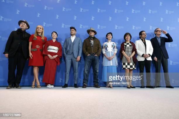Cinematographer Benoit Delhomme, Katherine Jenkins, Akiko Iwase, director Andrew Levitas, Johnny Depp, Minami, writer Aileen Mioko Smith, Hiroyuki...
