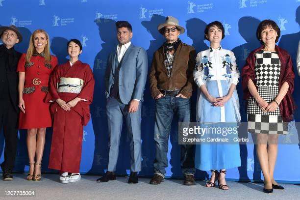 Cinematographer Benoit Delhomme Katherine Jenkins Akiko Iwase director Andrew Levitas Johnny Depp Minami and writer Aileen Mioko Smith the Minamata...
