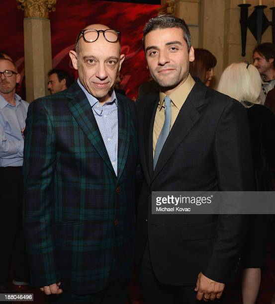 Cinematographer Bruno Delbonnel and actor Oscar Isaac attend the after party for the AFI FEST 2013 presented by Audi closing night gala screening of...