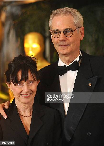 Cinematographer Caleb Deschanel arrives with wife Mary Jo Deschanel for the 2009 Governors Awards at the Grand Ballroom at Hollywood Highland Center...