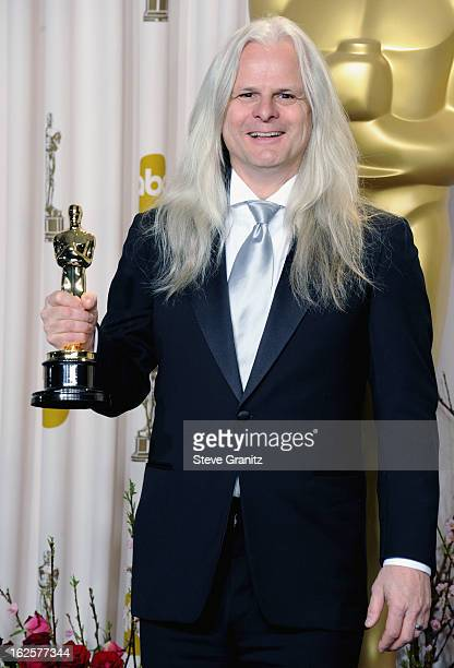 Cinematographer Claudio Miranda poses in the press room during the Oscars at the Loews Hollywood Hotel on February 24, 2013 in Hollywood, California.