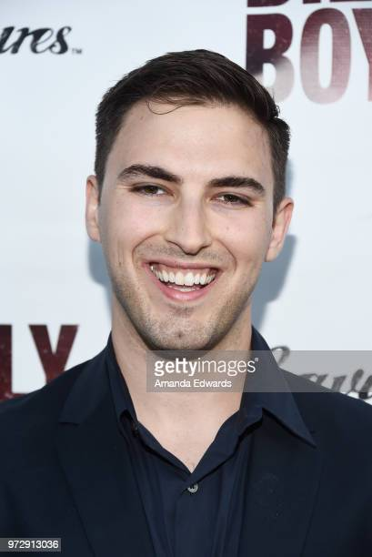 Cinematographer Cooper Ulrich arrives at the Los Angeles premiere of 'Billy Boy' at the Laemmle Music Hall on June 12 2018 in Beverly Hills California