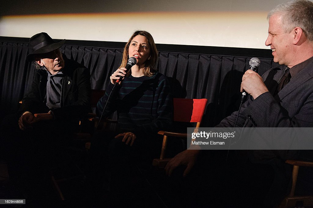 Cinematographer Ed Lachman, director Sofia Coppola and First Time Fest director of programming David Schwartz attend the 'The Virgin Suicides' as part of the First Exposure Series during the 2013 First Time Fest at AMC Loews Village 7 on March 1, 2013 in New York City.