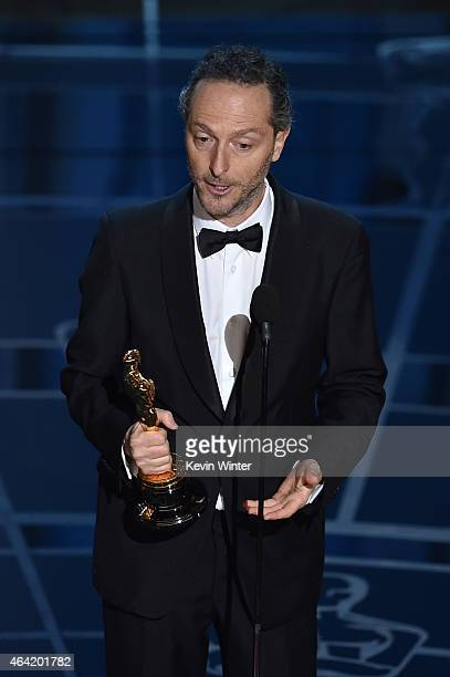Cinematographer Emmanuel Lubezki accepts Best Cinematography for 'Birdman' onstage during the 87th Annual Academy Awards at Dolby Theatre on February...