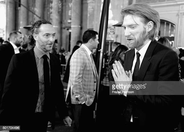"""Cinematographer Emmanuel Lubezki, and actor Domhnall Gleeson arrives at the Premiere Of 20th Century Fox And Regency Enterprises' """"The Revenant"""" at..."""