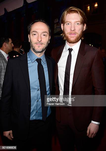 Cinematographer Emmanuel Lubezki and actor Domhnall Gleeson attend the premiere of 20th Century Fox and Regency Enterprises' The Revenant at the TCL...