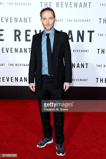 Cinematographer Emmanuel Lubezki attends the premiere of 20th Century Fox and Regency Enterprises' The Revenant at the TCL Chinese Theatre on...