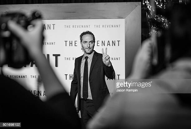 """Cinematographer Emmanuel Lubezki attends the premiere of 20th Century Fox's """"The Revenant"""" at TCL Chinese Theatre on December 16, 2015 in Hollywood,..."""