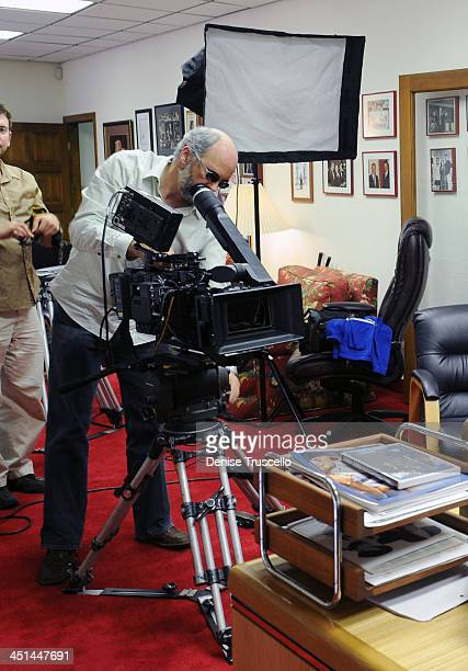 Cinematographer Eric Adkins during an interview with Jerry Lewis for the Ina Balin documentary on May 29 2009 in Las Vegas Nevada