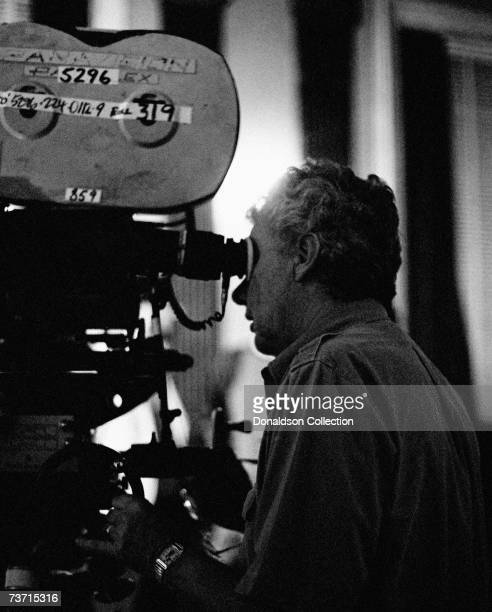 Cinematographer Gordon Willis on set during the filming of Presumed Innocent in 1990 at the soundstage in New York