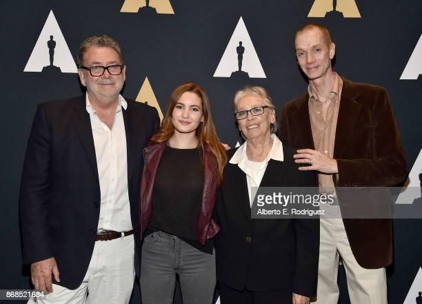 Cinematographer Guillermo Navarro actress Ivana Baquero producer Bertha Navarro and actor Doug Jones attend The Academy Presents A Screening And...