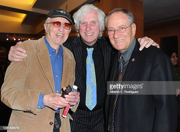 Cinematographer Haskell Wexler photographer Douglas Kirkland and cinematographer Owen Roizman attend the Academy of Motion Picture Arts and Sciences'...